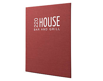 Heavy Duty Single Pocket Quality Casebound Menu