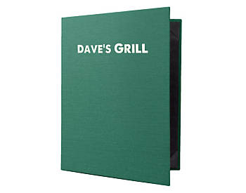 Heavy Duty 6 View Book Style Quality Casebound Menu