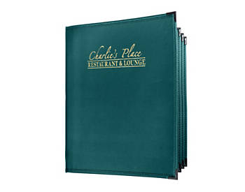 6 View Book Style Fine Cafe Menu