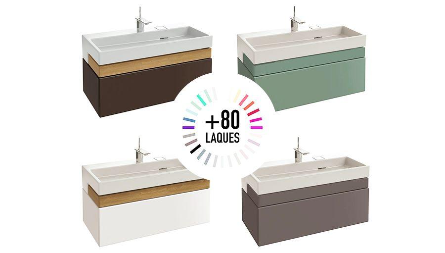 Des laques différentes pour le meuble de salle de bains