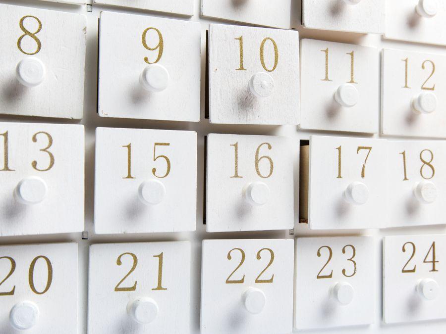 Un calendrier de l'Avent pour sa salle de bains
