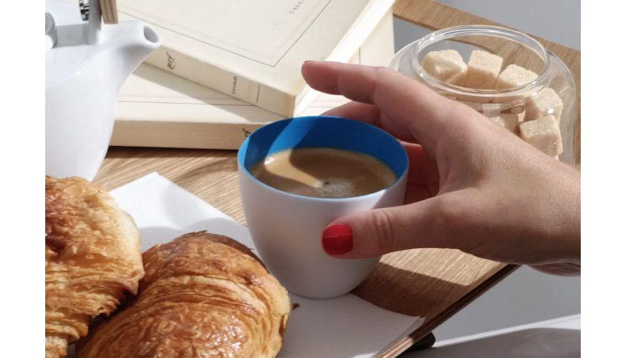 Interview de madame Lamberterie autour d'un café, moment de détente