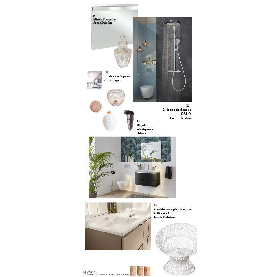 Meubles de douche et accessoires de décoration