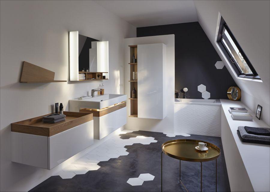 Une salle de bains au style masculin