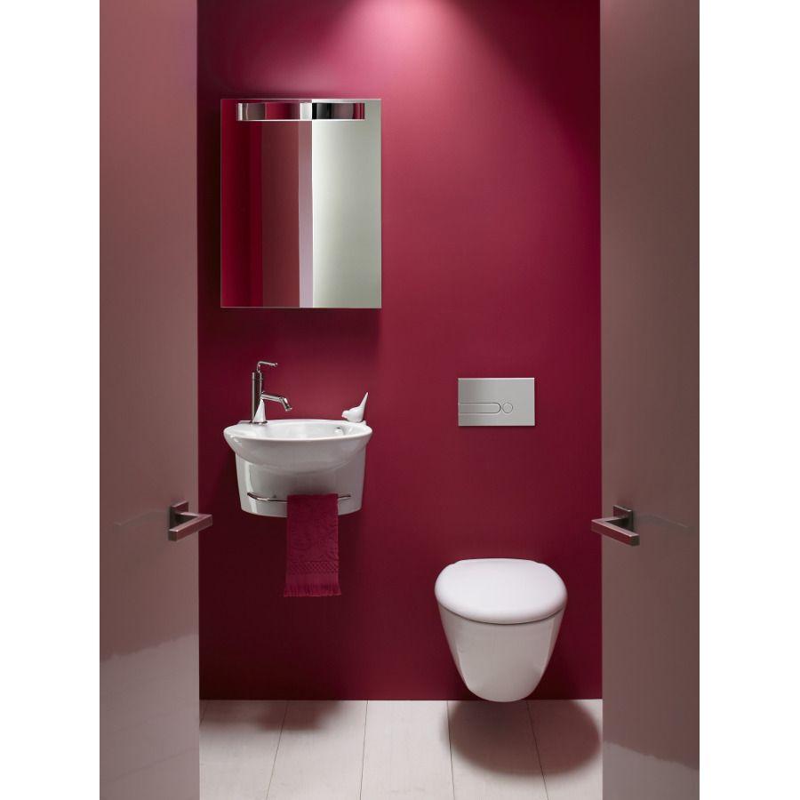 WC suspendu avec un design arrondi