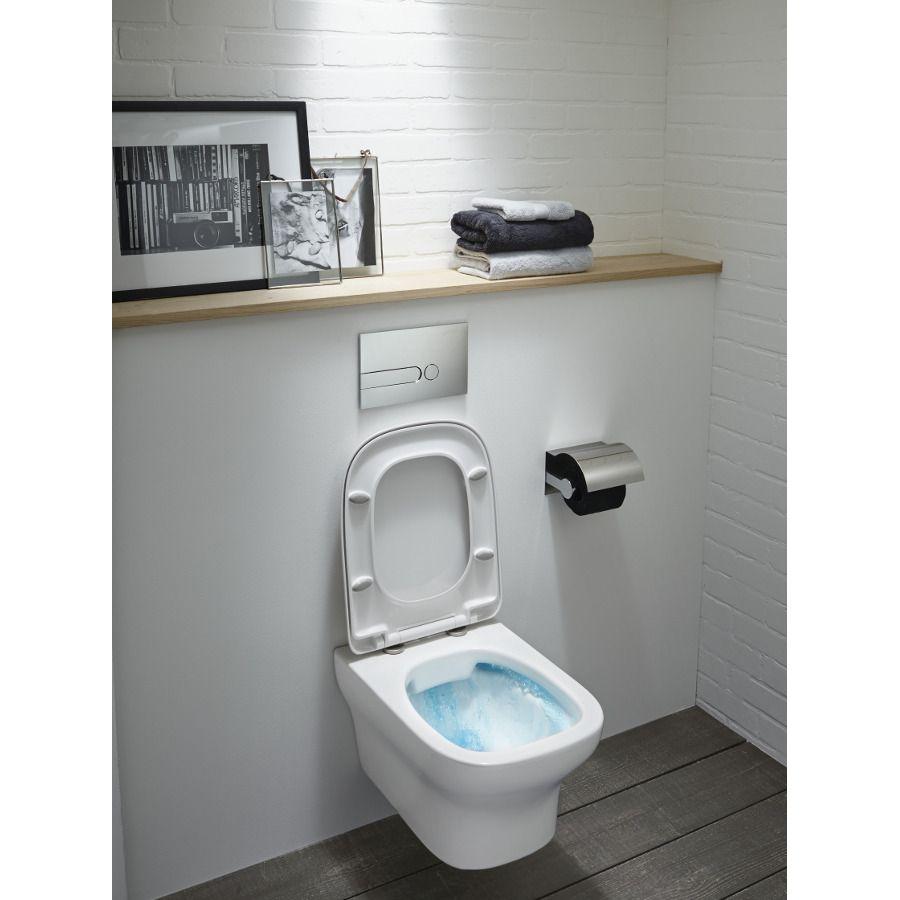 Les accessoires de WC tels que l'abattant et la plaque de commande sont importants