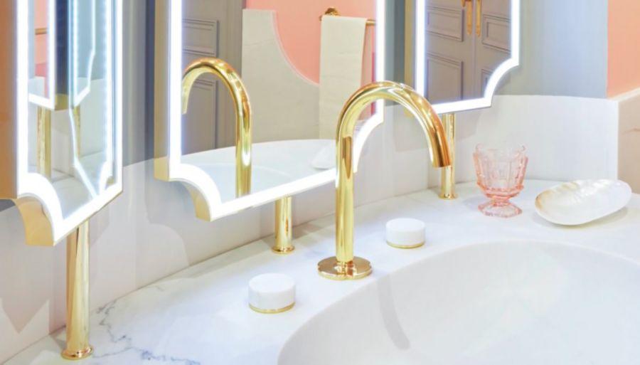 Un lavabo marbré luxueux
