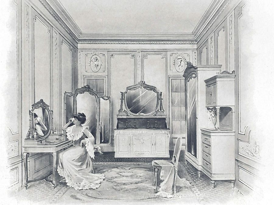Le cabinet de toilettes ou l'ancienne salle de bains