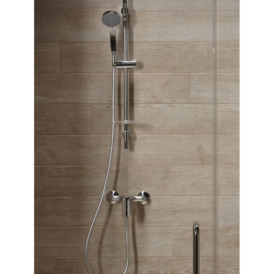 Une colonne de douche avec un mitigeur mécanique