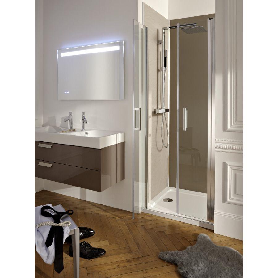 Paroi de douche en niche entre trois murs