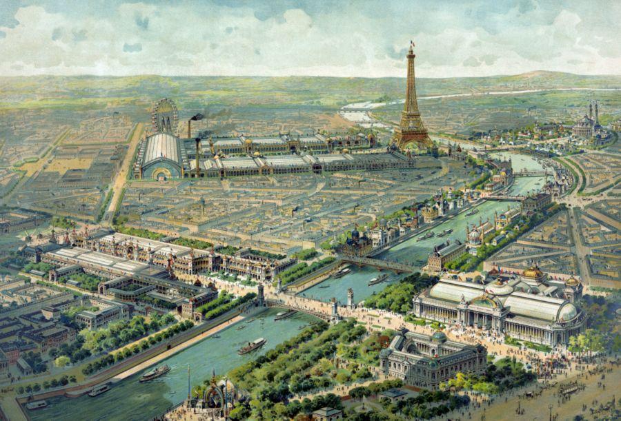 Une vue aérienne de Paris au XXème siècle