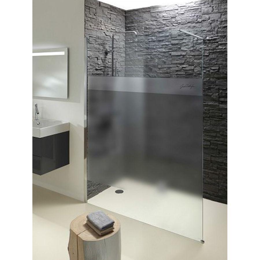 Paroi de douche avec une partie opaque pour l'intimité