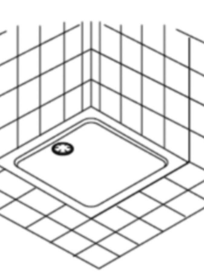 Schéma receveur de douche à encastrer