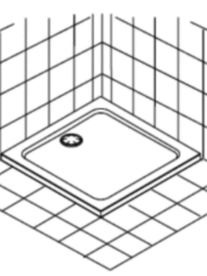 Schéma receveur douche à poser