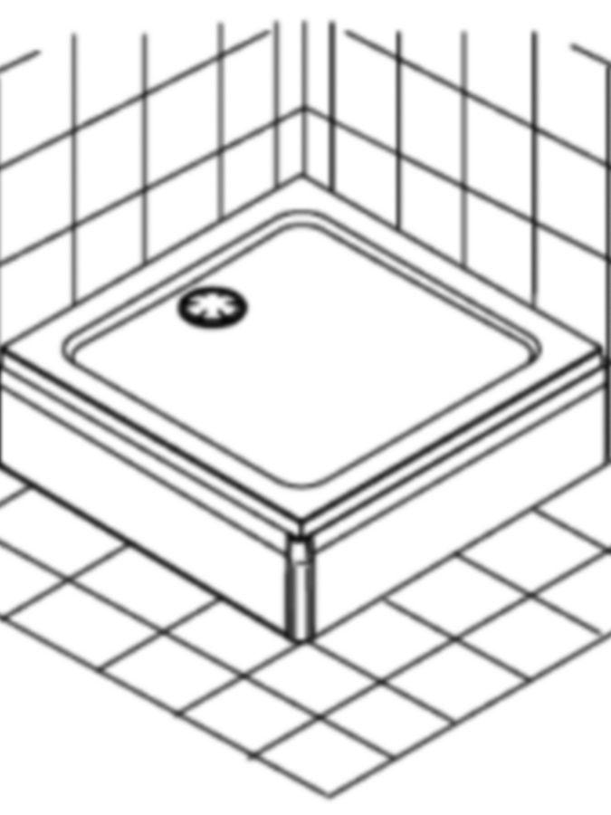 Schéma receveur de douche à surélever
