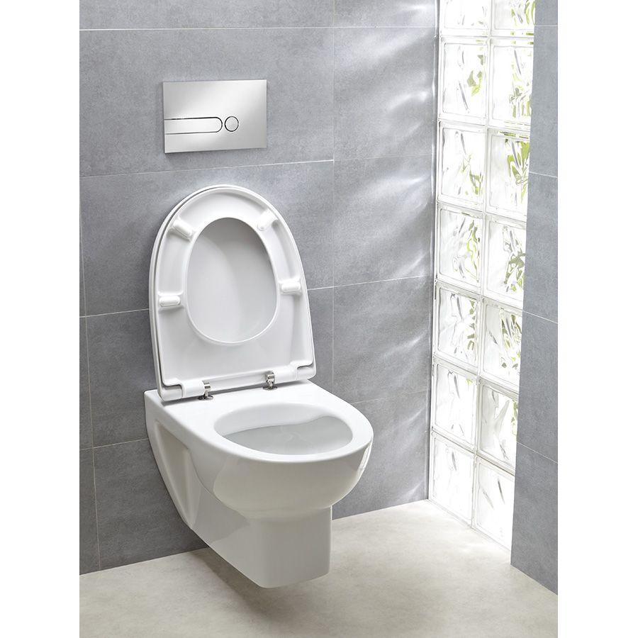 Wc suspendu avec brique de verre dans les toilettes séparées