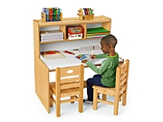 Elegant Classic Birch Space Saver Writing Center