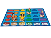 Learning Shapes Amp Colors Activity Carpets