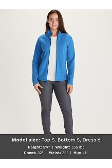 Women's Rocklin Full Zip Jacket, Classic Blue, medium