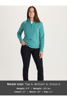Women's Rocklin ½ Zip Jacket, Deep Jungle, medium