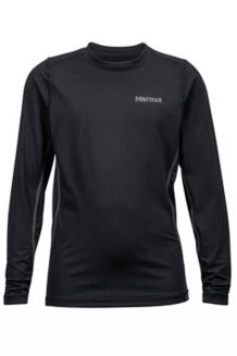 Boy's Kestrel LS Crew, Black, medium
