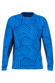 Boy's Kestrel LS Crew, True Blue Groomer, medium