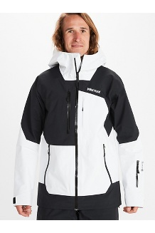 Men's Smokes Run Jacket, White/Black, medium