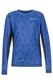 Boy's Midweight Harrier Crew Neck Shirt, Nightfall Penguin, medium