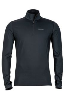 Morph 1/2 Zip, Black, medium