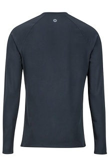 Men's Lightweight Kestrel Long-Sleeve Crew, Black, medium