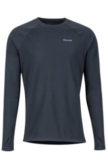 Lightweight Kestrel LS Crew Neck Shirt, Black, medium