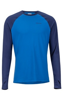 Men's Lightweight Kestrel Long-Sleeve Crew, Dark Cerulean/Arctic Navy, medium
