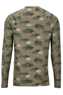 Men's Lightweight Kestrel Long-Sleeve Crew, Camping Camo, medium