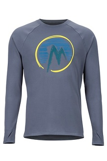 Men's Midweight Harrier Long-Sleeve Crew, Steel Onyx, medium
