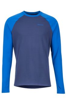 Midweight Harrier LS Crew, Arctic Navy/Dark Cerulean, medium