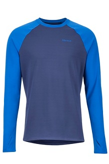 Men's Midweight Harrier Long-Sleeve Crew, Arctic Navy/Dark Cerulean, medium