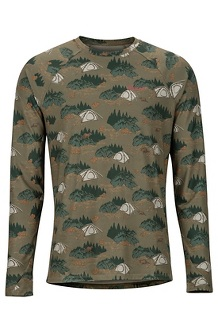 Men's Midweight Harrier Long-Sleeve Crew, Camping Camo, medium