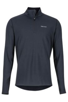 Midweight Harrier 1/2 Zip LS Shirt, Black, medium