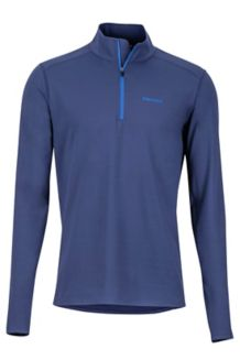 Midweight Harrier 1/2 Zip LS Shirt, Arctic Navy, medium