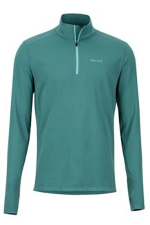 Midweight Harrier 1/2 Zip LS Shirt, Mallard Green, medium