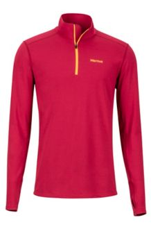 Midweight Harrier 1/2 Zip LS Shirt, Sienna Red, medium