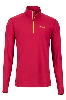 Men's Midweight Harrier 1/2-Zip, Sienna Red, medium