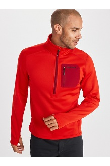 Men's Olden Polartec ½-Zip Jacket, Victory Red, medium