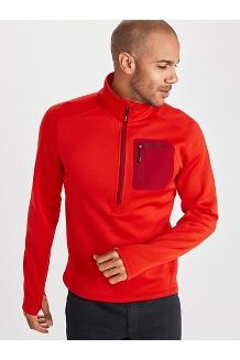 Men's Olden Polartec ½-Zip Jacket, Victory Red, medium