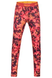 Girl's Midweight Meghan Tights, Living Coral Floral Camo, medium