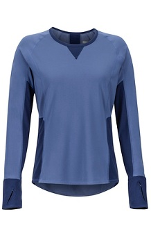 Women's Lightweight Lana Long-Sleeve Crew, Storm/Arctic Navy, medium