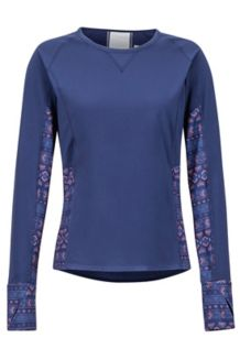 Women's Lightweight Lana LS Crew, Arctic Navy Yucatan, medium