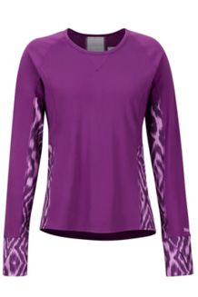 Women's Lightweight Lana LS Crew, Grape Textured Ikat, medium
