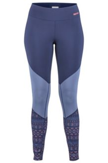 Women's Lightweight Lana Tights, Arctic Navy Yucatan, medium