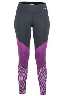 Women's Lightweight Lana Tights, Grape Textured Ikat, medium
